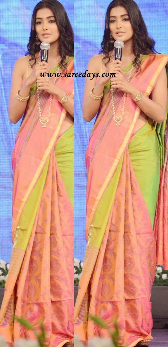 Latest saree designs pink and green uppada pattu saree checkout pink and green uppada pattu saree with self work and zari border and paired with matching blouse thecheapjerseys Images
