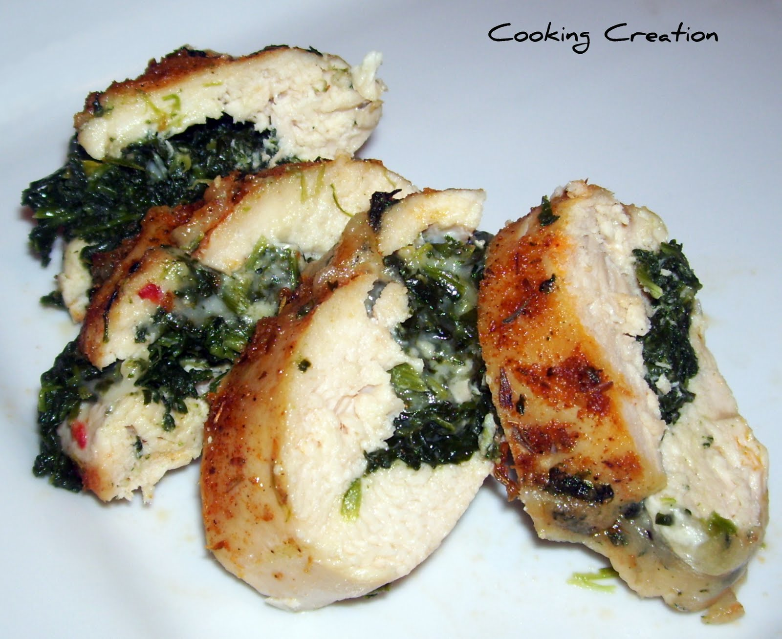 ... Creation: Cajun Chicken Stuffed with Pepper Jack Cheese & Spinach