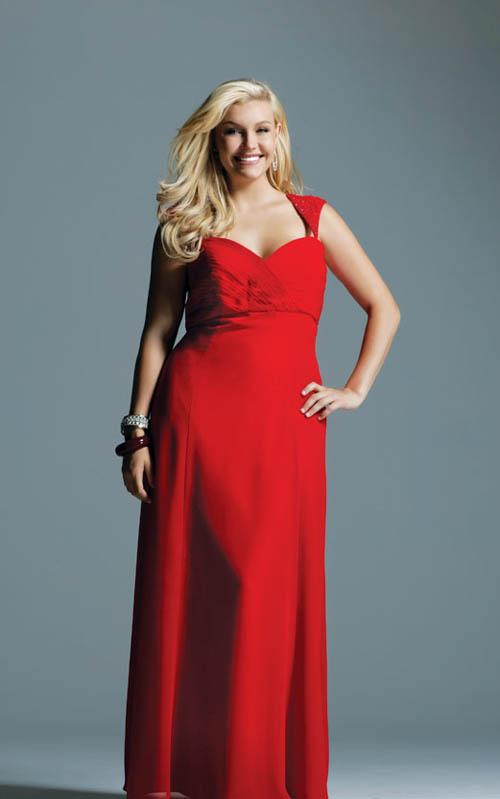 2012 2013 Plus Size Casual Cocktai Red Dress Fashion Ambellamy