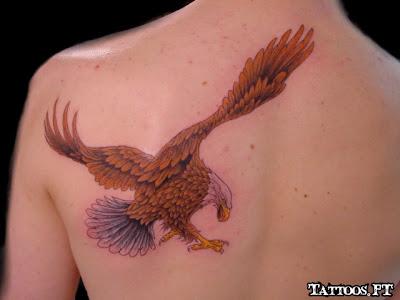 de Tatuagens Aguia nas Costa