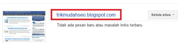 masuk ke google webmaster tool blog anda
