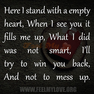 Here I stand with a empty heart