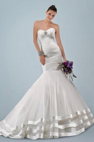 Wedding Dress With Ruching Bodice