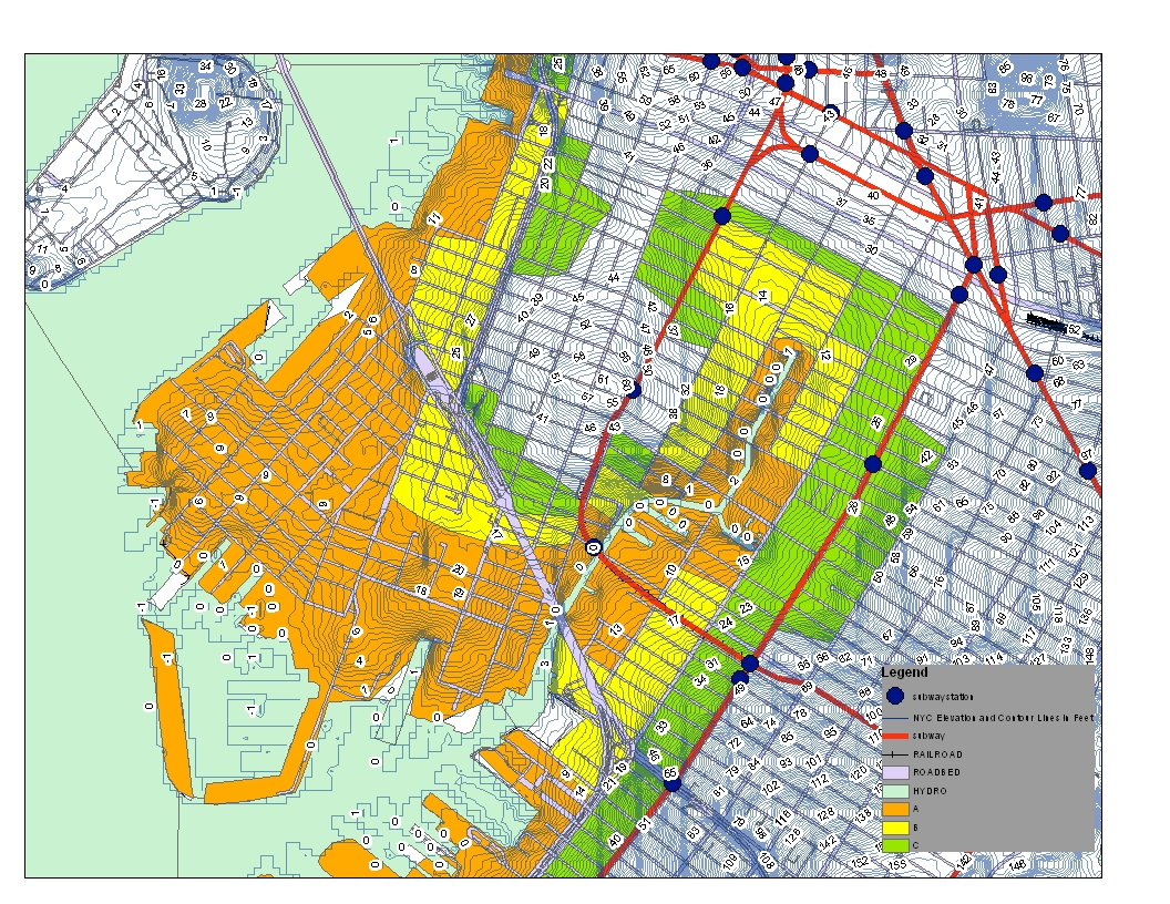 Streetcars and Spatial Analysis Red Hook Brooklyn Hurricane and