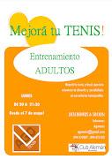 Los grandes a entrenar!! Entrenamiento de tenis para adultos.