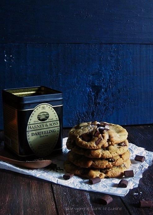 dark chocolate chunk + Darjeeling tea cookies | une gamine dans la cuisine
