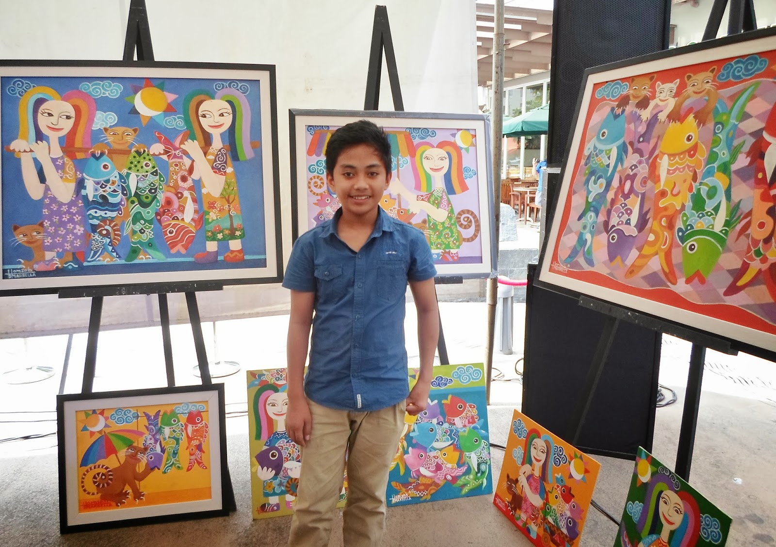 Promil pre school interactive mural painting event with for Bonifacio mural painting