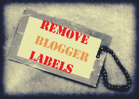 Remove-Delete Labels From Blogger Posts