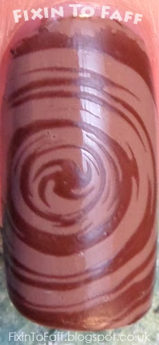 Chocolate truffle nail art