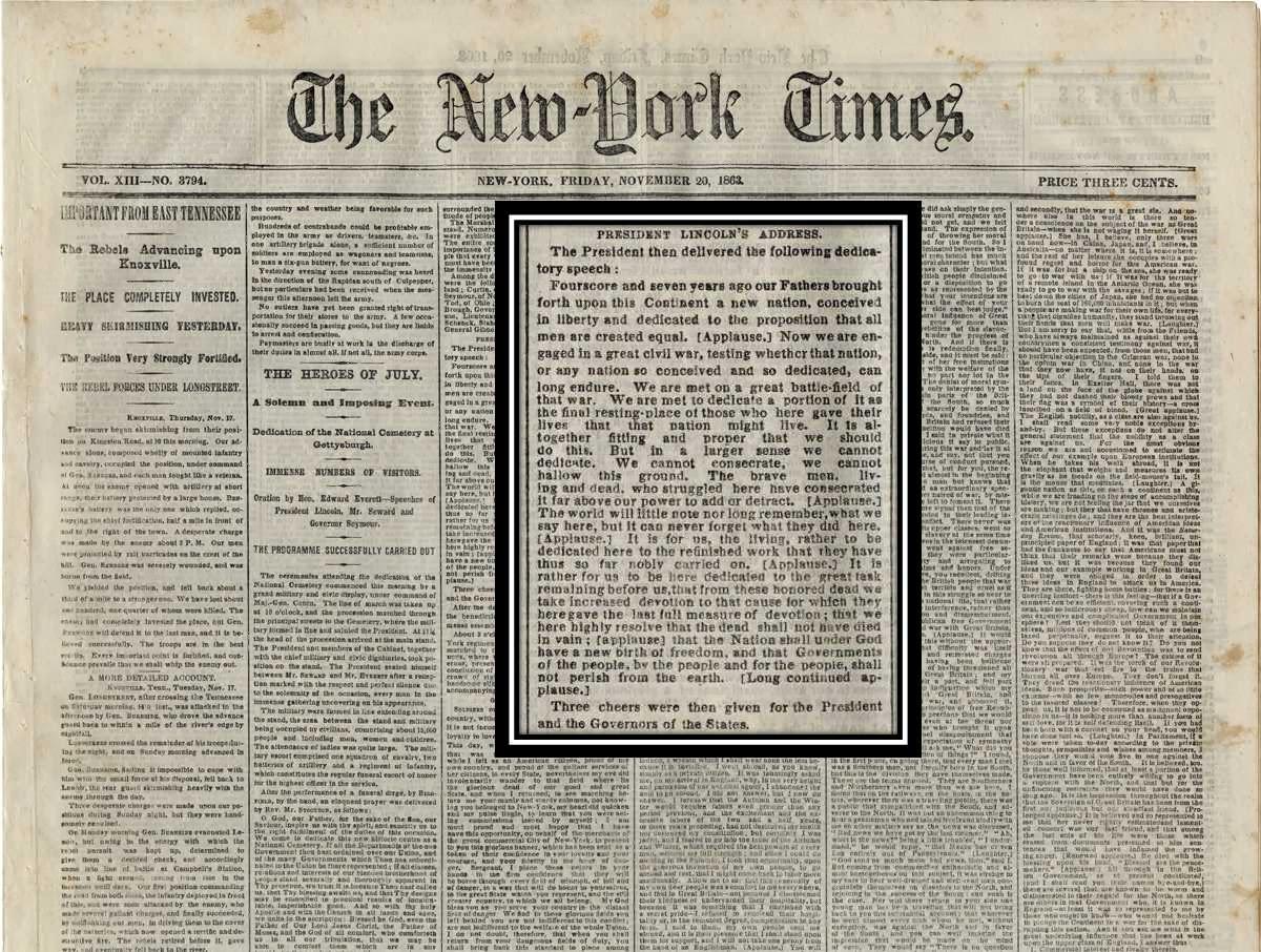 Gettysburg Address Bliss Copy