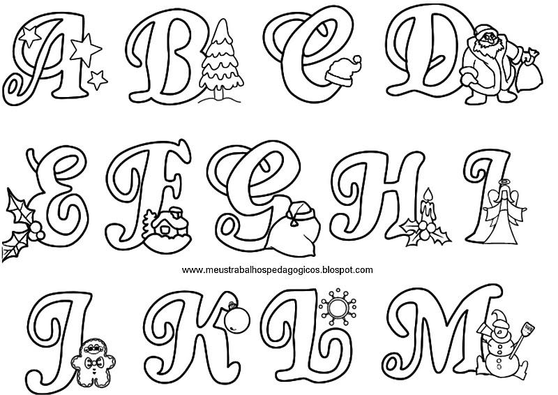 Caixinha m gica de ideias letras natalinas - Letras para adornar ...