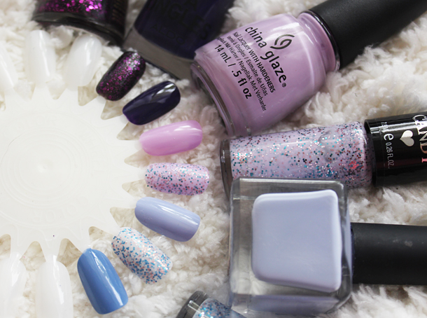 nail polish comparison purple lilac swatch revlon china glaze aldo urban outfitters