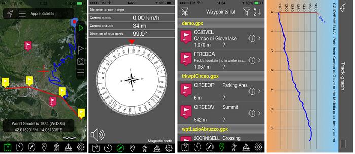 تطبيق مجاني لتحديد وإستكشاف المواقع والطرق الوعرة والملاحة للآيفون والآيباد OkMap Mobile
