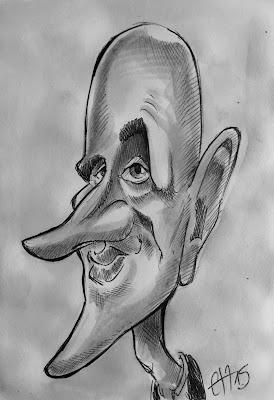 """L'occasion faisant le larron... J'en profite pour souhaiter un excellent anniversaire à l'excellent Igor Dedic. Outre ses bonnes analyses footballistiques, c'est un sacré dessinateur de BD (lisez """"La Grande Purge"""", """"Secrets du sang""""...) et un caricaturiste d'une efficacité redoutable. Allez voir son travail. Sensations garanties. Guillaume Néel©"""