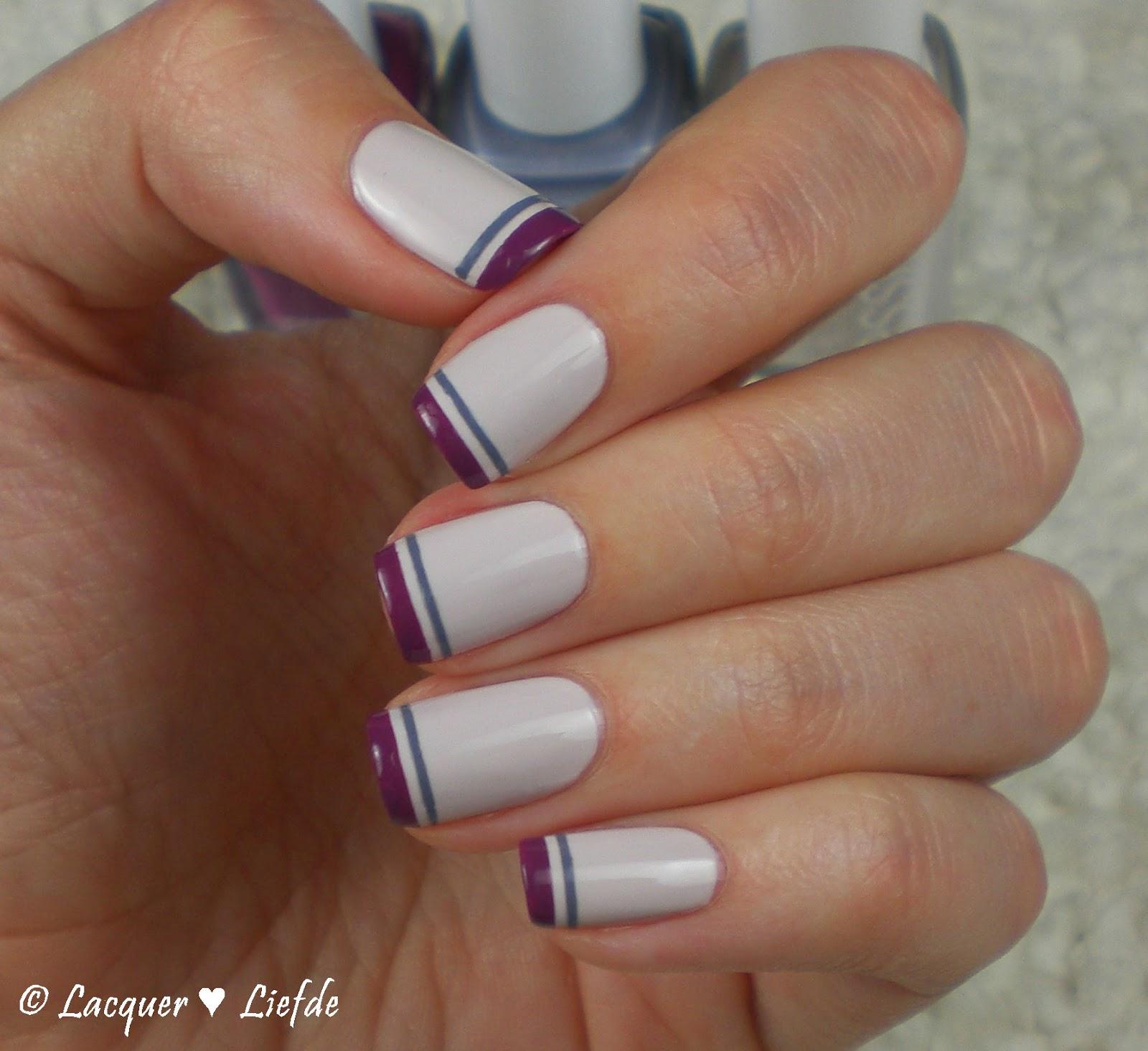 Essie Flowerista Double French Line Nagel Design