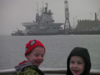 aircraft carrier in portsmouth harbour