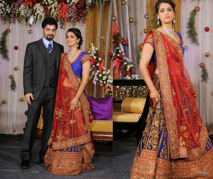 LATEST NORTH INDIAN WEDDING LEHENGA DRESSES : DESIGNER RECEPTION ...