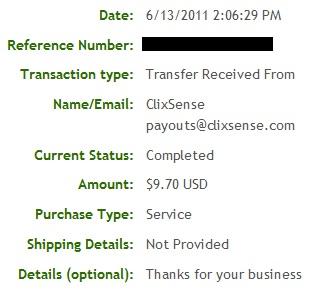 Pagamento ClixSense - PTCs em Prática