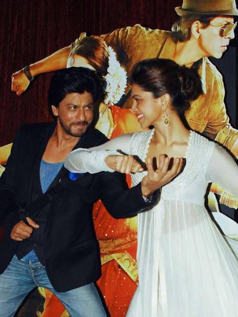 Shahrukh, Rohit & Deepika Padukone @ Chennai Express Trailer Launch-4