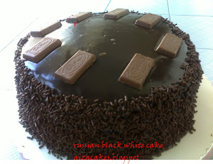 russian black white cake