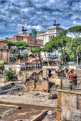 HDR image in the Roman Forum, Rome - Italy