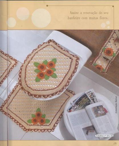 Juegos De Baño Tejidos A Crochet Paso A Paso:Juegos De Banos Tejidos