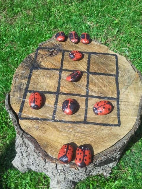 Maman je sais pas quoi faire jeu de morpions tic tac toc pour le jardin - Comment fabriquer le jeu tac tik ...