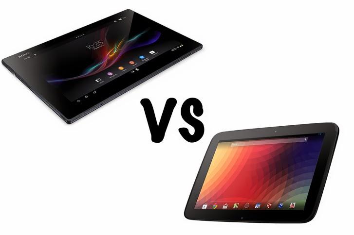 Sony Xperia Z Tablet VS LG Nexuse 10