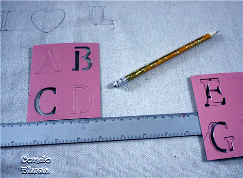 cardboard stencils