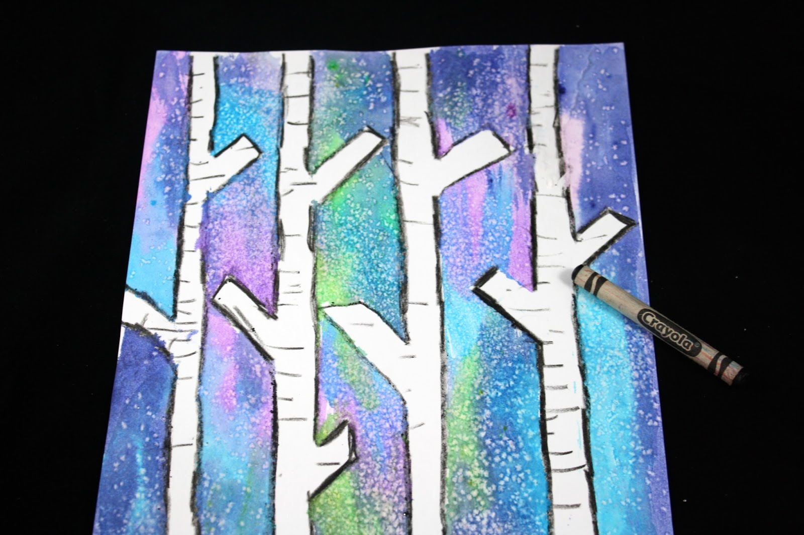 the educators 39 spin on it easy birch tree painting with kids