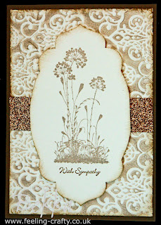 Stylish Sympathy Card using Serene Silhouettes Stamps by Stampin' Up! Demonstrator Bekka www.feeling-crafty.co.uk