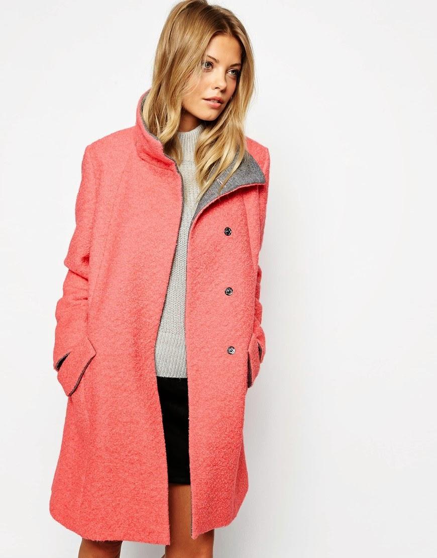 coral wool coat