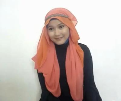 Tutorial hijab Untuk Wanita Hanya Dengan Seutas Tali Part 7