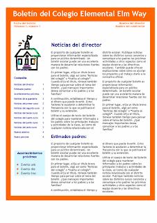 Boletín escolar