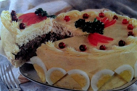 Бутербродный торт Загляденье