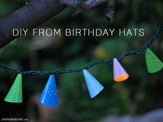 Diy Outside String Lights : DIY: Cafe String Lights From Birthday Hats