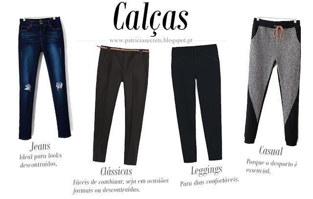 Essenciais outono-inverno, calças