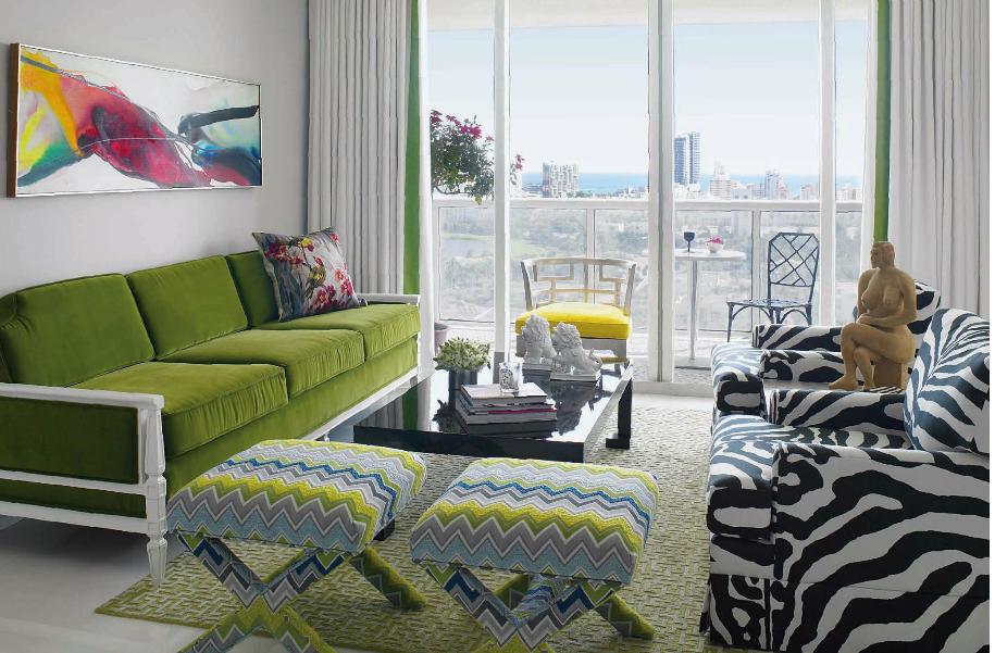 Decoracao De Sala Verde Com Marrom ~ Decoração de interiores Sala de estar semiclássica em tons verde