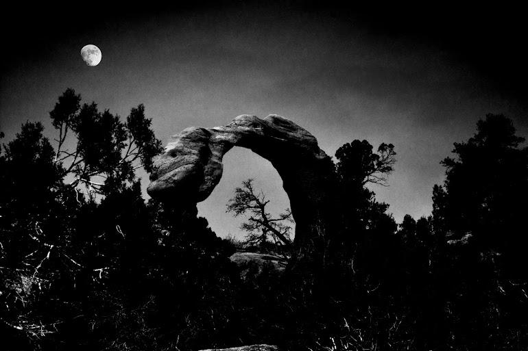 Moon Over Anasazi Arch