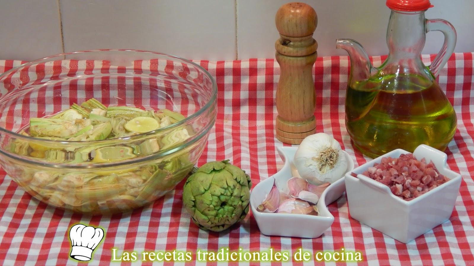Receta fácil de alcachofas salteadas con jamón