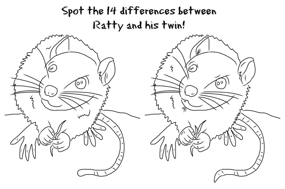 Spot The Difference Printable Spot the difference - ratty