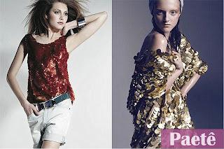 corte costura moda estilo look fashion paetê saia vestido