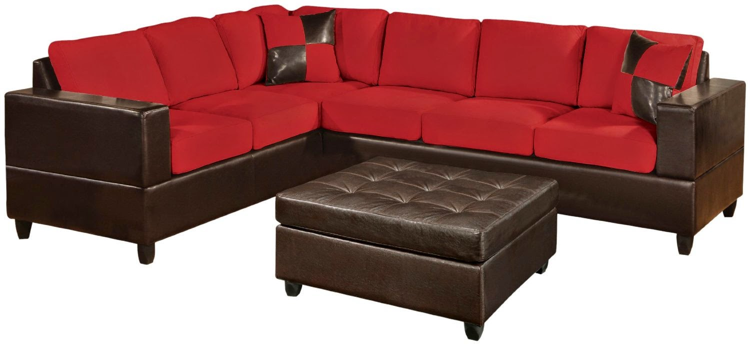 red couch red sectional couch With 2 piece red sectional sofa