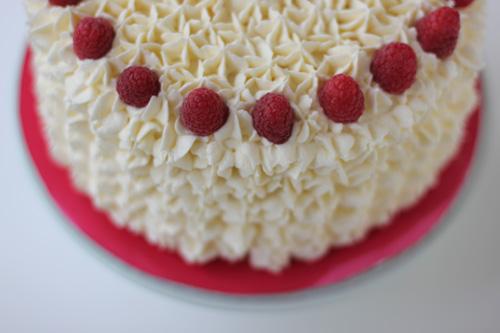 Rhubarb  Rose Raspberry  Vanilla Birthday Cake - Birthday cake vanilla