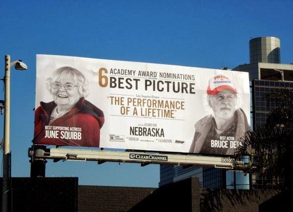 Nebraska Oscar nomination billboard