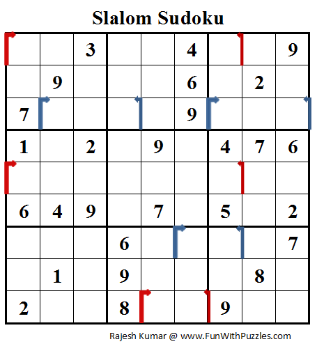 Slalom Sudoku (Daily Sudoku League #76)