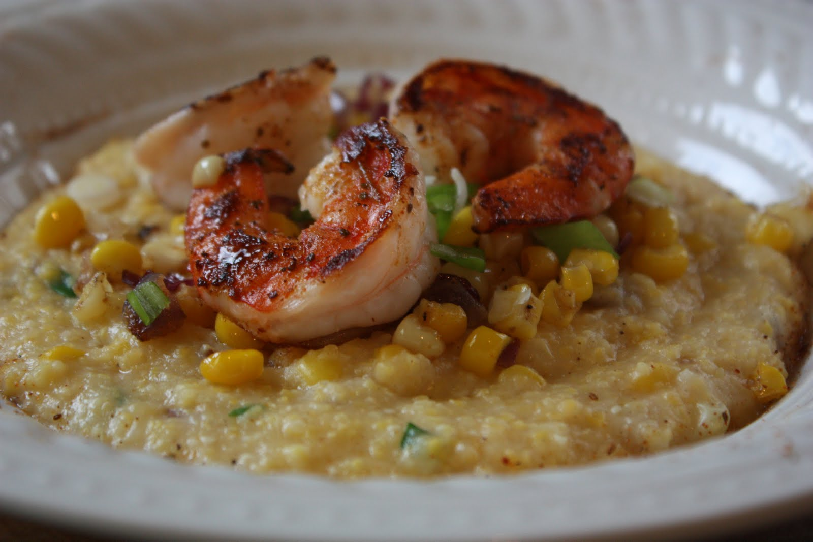 Shrimp and Grits with Roasted Corn
