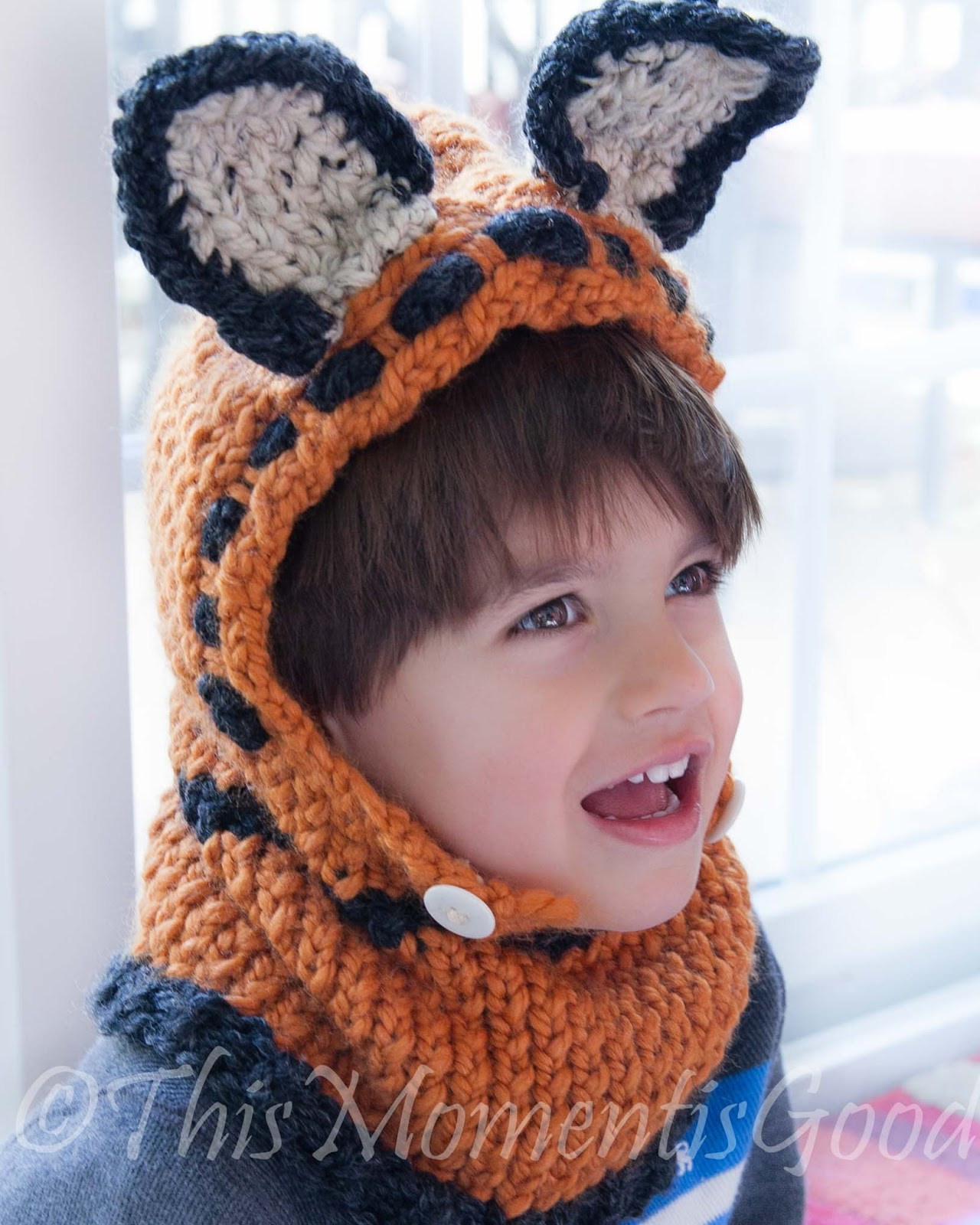 Loom Knitting by This Moment is Good!: LOOM KNIT FOX, PUPPY AND ZEBRA HOOD PA...