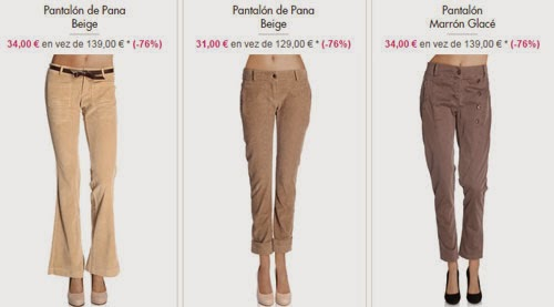 pantalones pana oferta