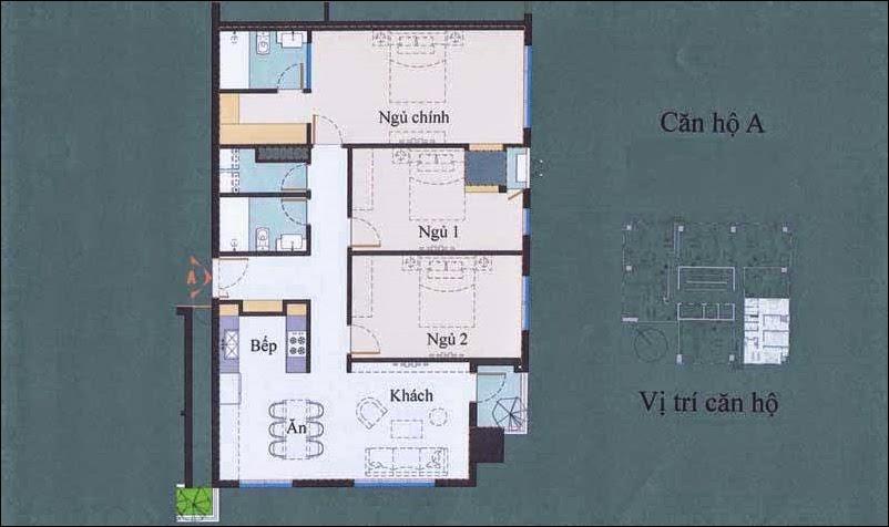 Căn hộ 3 Phòng ngủ SSG Tower Văn Thánh 122.11m2